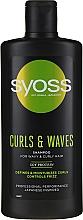 Perfumería y cosmética Champú natural frizz control con proteína de soja - Syoss Curls & Waves Shampoo