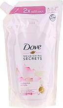 Perfumería y cosmética Jabón de manos líquido con extracto de flor de loto (recarga doypack) - Dove Nourishing Secrets Glowing Ritual Hand Wash