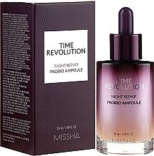 Perfumería y cosmética Sérum facial antiedad con aceites de bergamota y lavanda - Missha Time Revolution Night Repair Night Repair Probio Ampoule Serum