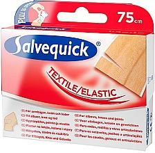 Perfumería y cosmética Vendaje adhesivo de textil elástico para codos y rodillas, 75cm - Salvequick Textil Elastic