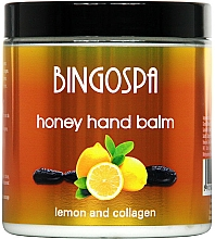 Perfumería y cosmética Bálsamo de manos con extracto de miel, colágeno y limón - BingoSpa Honey Balm For Hands With Lemon And Collagen