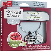 Perfumería y cosmética Set ambientador de coche con aroma a cereza negra (recargable) - Yankee Candle Charming Scents Black Cherry Linear