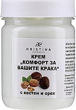 Perfumería y cosmética Crema para pies con extracto de castaño y nuez - Hristina Cosmetics