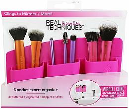 Perfumería y cosmética Organizador de brochas de maquillaje rosa - Real Techniques 3 Pocket Expert Organizer Pink