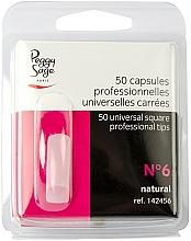 Perfumería y cosmética Tips de manicura cuadrados universales, №6, 50uds. - Peggy Sage Tips
