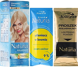Perfumería y cosmética Aclarador de cabello con extracto de proteína de seda - Joanna Hair Naturia Blond