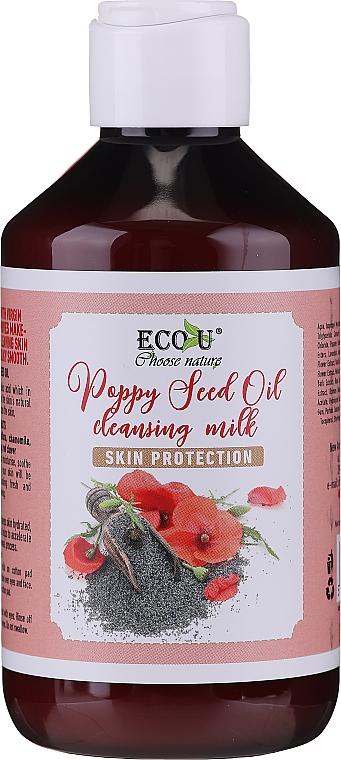Leche facial limpiadora con aceite de semilla de amapola - Eco U Poppy Seed Oil Cleansing Milk