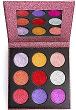 Perfumería y cosmética Paleta de sombras de ojos glitter - Makeup Revolution Pressed Glitter Palette Diva