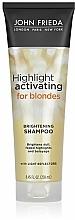 Perfumería y cosmética Champú hidratante activador resaltador del cabello rubio natural o teñido con aceite de aguacate - John Frieda Sheer Blonde Highlight Activating Moisturising Shampoo