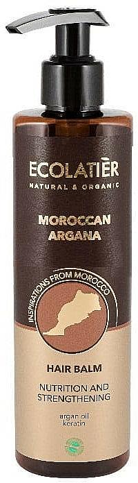 Bálsamo para cabello con aceite de argán de Marruecos - Ecolatier Moroccan Argana Hair Balm