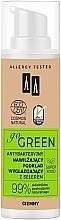 Perfumería y cosmética Base de maquillaje hidratante con efecto antibacteriano, hipoalergénica - AA Go Green Foundation