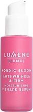 Perfumería y cosmética Sérum facial reafirmante con extracto de arándano rojo y algas rojas - Lumene Lumo Nordic Bloom Anti-wrinkle & Firm Moisturizing V-Shape Serum