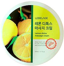 Perfumería y cosmética Crema de masaje facial con extracto de limón - Lebelage Lemon Detox Massage Cream