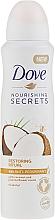 Perfumería y cosmética Desodorante antitranspirante con aroma a coco y jazmín - Dove Nourishing Secrets Restoring Ritual