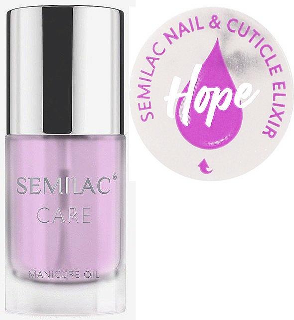 Aceite-elixir para uñas y cutículas con aroma a jazmín y azucena - Semilac Care Nail & Cuticle Elixir Hope