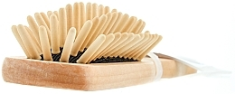 Perfumería y cosmética Cepillo de masaje capilar de madera 5 filas, ovalado, pequeño - Titania