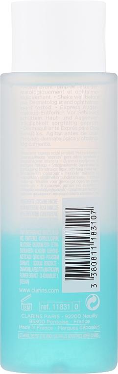 Desmaquillante bifásico resistente al agua para pieles sensibles - Clarins Instant Eye Make-Up Remover — imagen N2