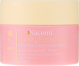 Perfumería y cosmética Gel mascarilla facial natural con extracto de limón, pomelo y levadura - Nacomi Honey Face Gel-Mask