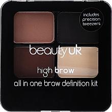 Perfumería y cosmética Paleta de cejas - Beauty UK High Brow and Eyebrow Kit