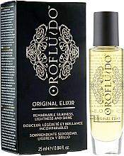 Perfumería y cosmética Elixir para cabello iluminador con aceite de argán y lino - Orofluido Original Elixir Remarkable Silkiness, Lightness And Shine