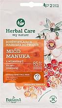 Perfumería y cosmética Mascarilla iluminadora con miel de manuka & vitamina C - Farmona Herbal Care Manuka Honey Face Mask