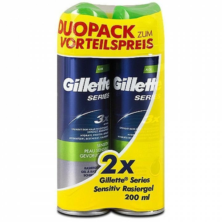 Set gel de afeitado para pieles sensibles - Gillette Series Sensitive Shaving Gel Dou Pack (2uds.x200ml)