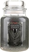 Perfumería y cosmética Vela en tarro con aroma a sándalo & hierba de limón - Country Candle Grey