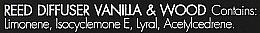 Ambientador Mikado, vainilla y sándalo - Millefiori Milano Natural Diffuser Vanilla & Wood — imagen N4