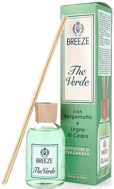 Breeze The Verde - Ambientador Mikado con aroma a bergamota y madera de cedro