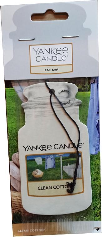 """Ambientador de coche """"algodón limpio"""" - Yankee Candle Car Jar Clean Cotton"""