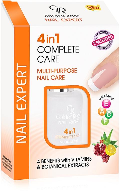 Tratamiento para cuidado de uñas 4 en 1 con vitamínas y extractos botánicos - Golden Rose Nail Expert 4 in 1 Complete Care