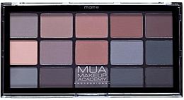 Perfumería y cosmética Paleta de sombras de ojos, mate, 15 colores - MUA 15 Shade Palette