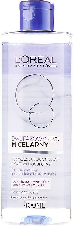 Agua micelar bifásica hipoalergénica - L'Oreal Paris Skin Expert