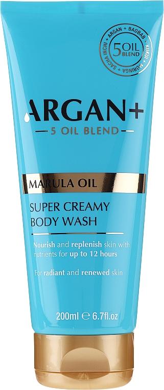 Crema de ducha con aceite de marula - Argan+ Super Creamy Body Wash