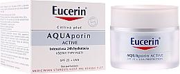 Perfumería y cosmética Crema facial SPF 25 + UVA - Eucerin AquaPorin Active Deep Long-lasting Hydration For All Skin Types