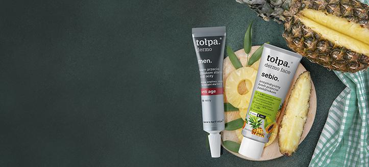 Rebajas del 10% en productos promocionales de cuidado facial de Tołpa. Los precios indicados tienen el descuento aplicado