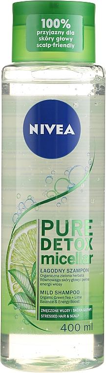 Champú micelar para cabello estresado - Nivea Pure Detox Micellar Shampoo