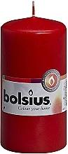 Perfumería y cosmética Vela cilíndrica, roja, 120x60 mm - Bolsius Candle
