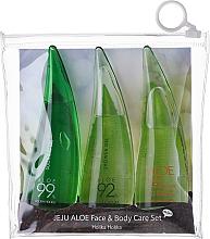 Perfumería y cosmética Set cuidado de aloe vera - Holika Holika Aloe Face And Body Care Set (espuma/55ml + gel facial/55ml + gel de ducha /55ml)
