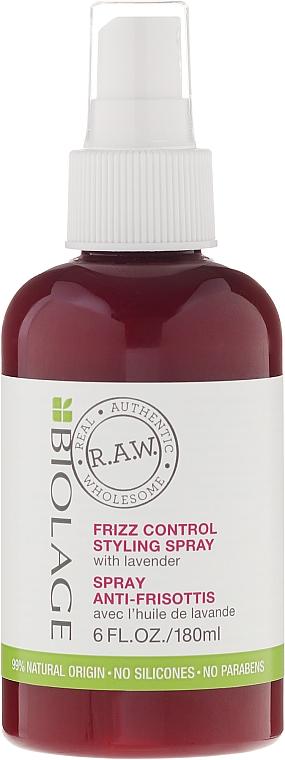 Spray antiencrespamiento natural con aceite de lavanda - Biolage R.A.W Frizz Control Styling Spray — imagen N1