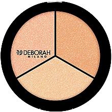 Perfumería y cosmética Iluminador facial compacto, tricolor - Deborah Highlighter Trio Palette