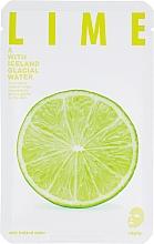 Perfumería y cosmética Mascarilla facial de tejido con extracto de lima - The Iceland Lime Mask