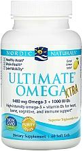 Perfumería y cosmética Complemento alimenticio en cápsulas de Omega 3 con sabor a limón, 1480 mg - Nordic Naturals Ultimate Omega Xtra