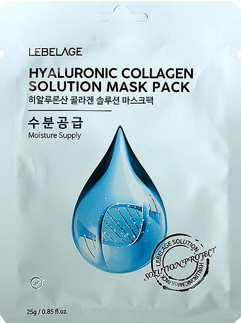 Mascarilla facial con colágeno y ácido hialurónico - Lebelage Hyaluronic Collagen Solution Mask