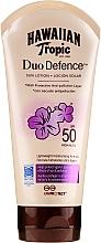 Perfumería y cosmética Loción hidratante de protección solar, SPF 50 - Hawaiian Tropic Duo Defence Sun Lotion SPF50