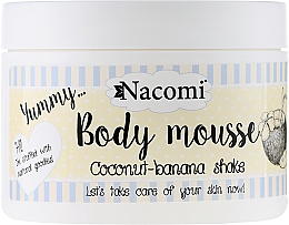 Perfumería y cosmética Mousse corporal con karité y aceite de argán, aroma a plátano y coco - Nacomi Body Mousse Coconut-Banana Shake