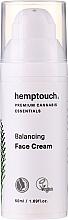 Perfumería y cosmética Crema facial con aceite de cáñamo - Hemptouch Balancing Face Cream