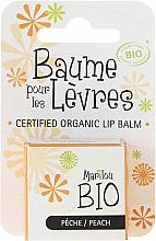Bálsamo labial con sabor a melocotón - Marilou Bio Certified Organic Lip Balm Peach — imagen N1