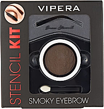 Perfumería y cosmética Kit de modelado de cejas - Vipera Stencil Kit Smoky Eyebrow