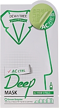 Perfumería y cosmética Mascarilla facial calmante con extracto de menta - Dewytree AC Control Deep Mask